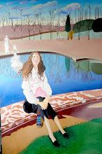Photo: Versailes, au bassin du Trianon (150*100 cm) huile sur toile 2011 en cours