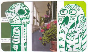 Photo: Wenchkin's Mail Art 366 - Day 128, card 128c