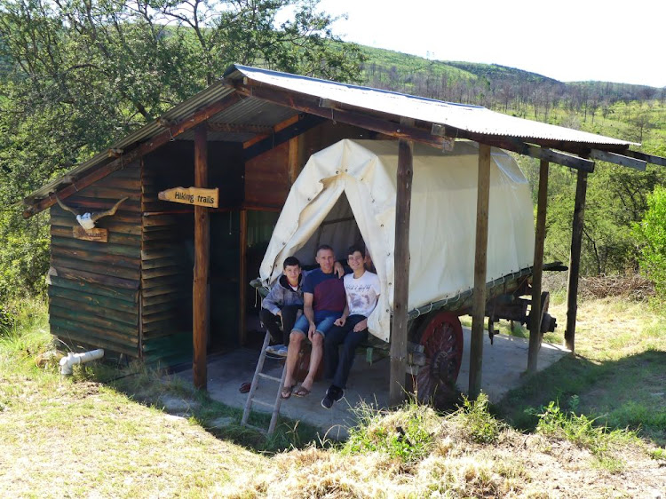 "The Dirsuwei family go ""glamping"" in an ox wagon"