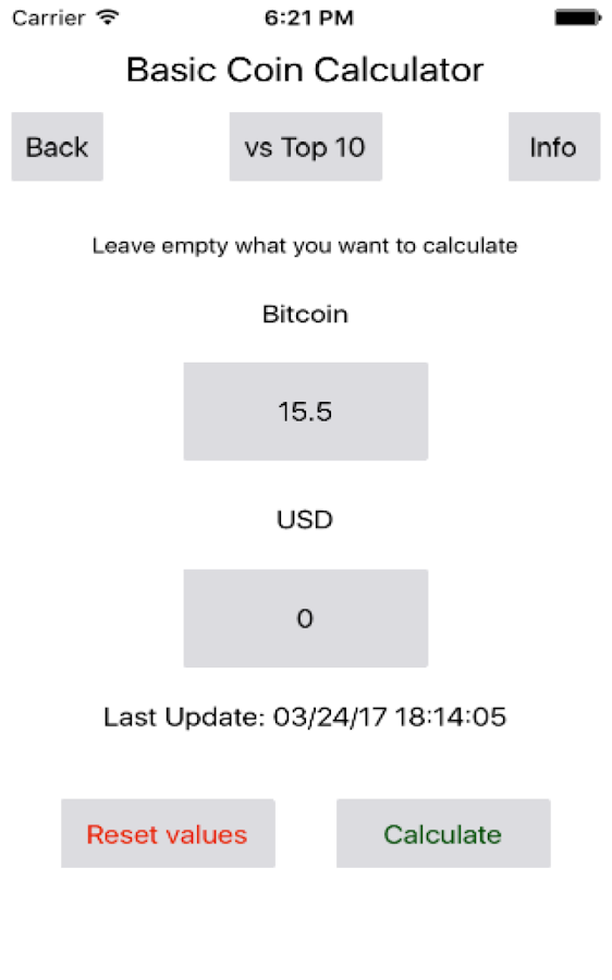 Basic Coin Calculator- screenshot