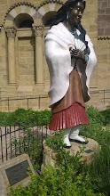 Photo: St. Kateri Tekkawitha outside St. Francis Basilica.