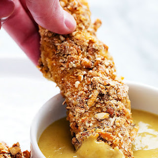 Baked Pretzel Crusted Chicken Tenders