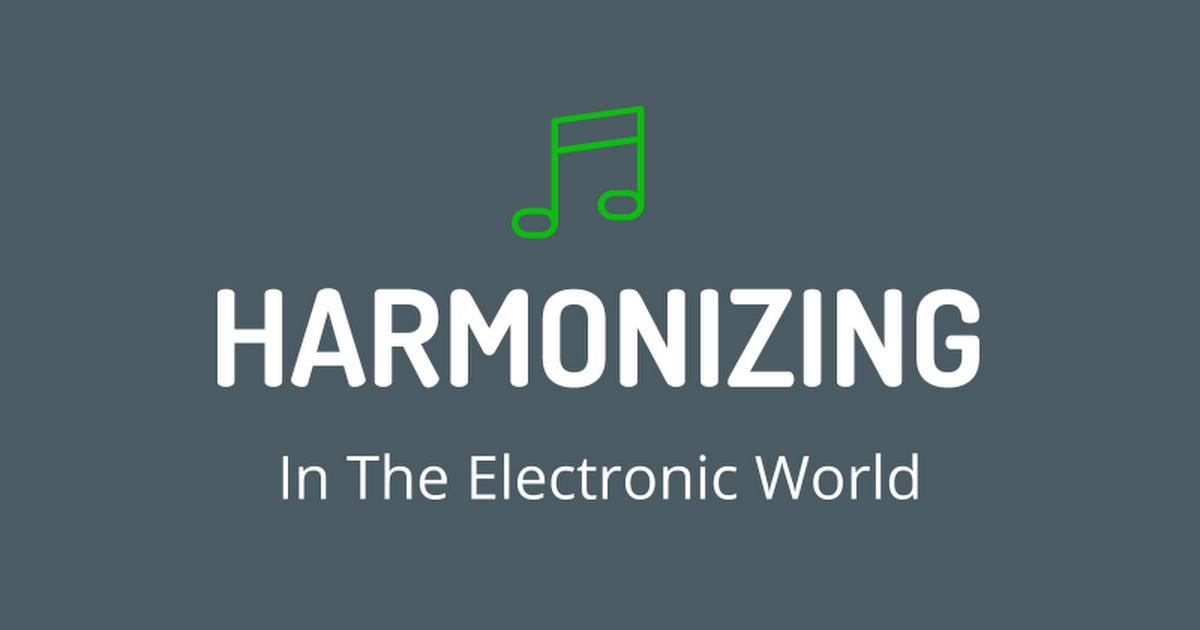 Harmonizing in the Electronic World - ITEC 2016