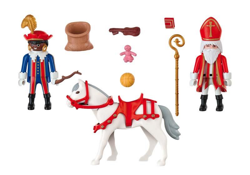 Contenido real de Playmobil® 4893 San Nicolas a Caballo y Paje