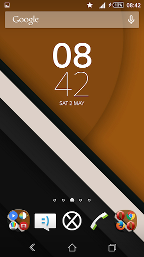 Lollipop Orange Reloaded Theme