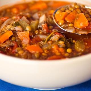 Lentil And Vegetable Soup.