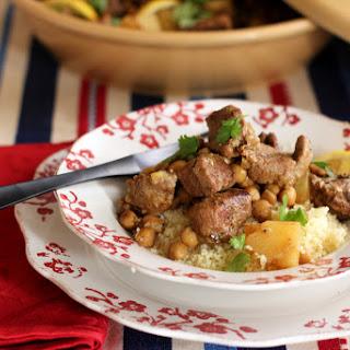 Lamb Tajine with Potatoes and Chickpeas Recipe