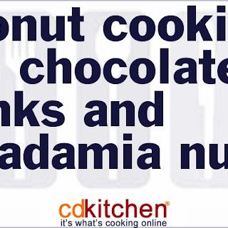Coconut Cookies with Chocolate Chunks and Macadamia Nuts.