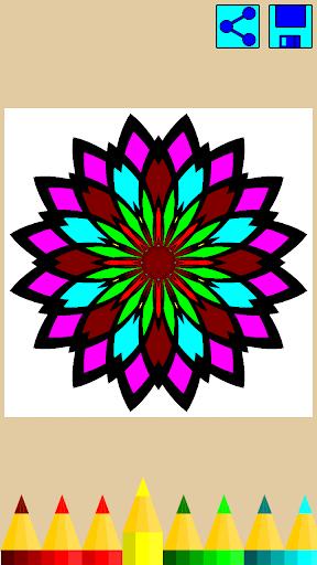 Coloring book: Mandala Flowers  screenshots 4