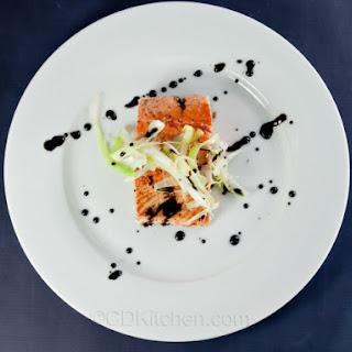 Pan-Seared Salmon with Honey-Balsamic Sauce Recipe