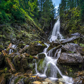 Waterfall in Western Tatras National Park by Laky Kucej - Landscapes Waterscapes ( waterfall,  )