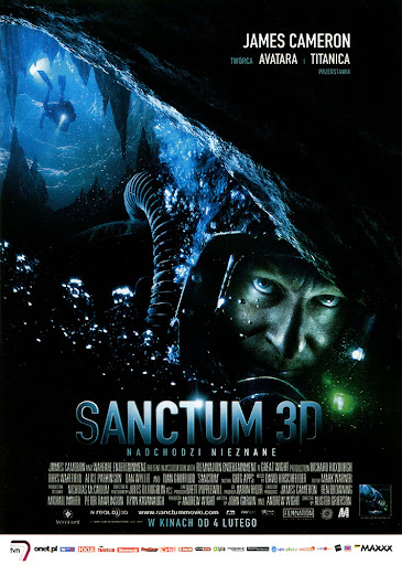 Przód ulotki filmu 'Sanctum'