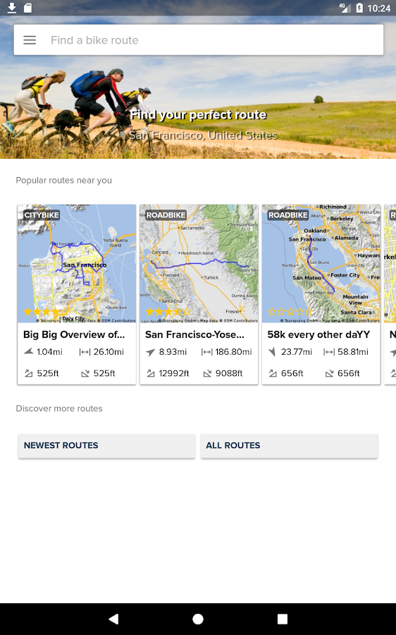 Bikemap 🚲 cycling tour maps- screenshot