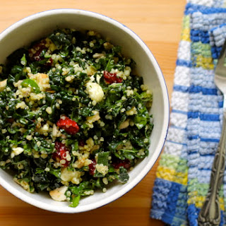 Kale And Quinoa Salad With Smoked Feta