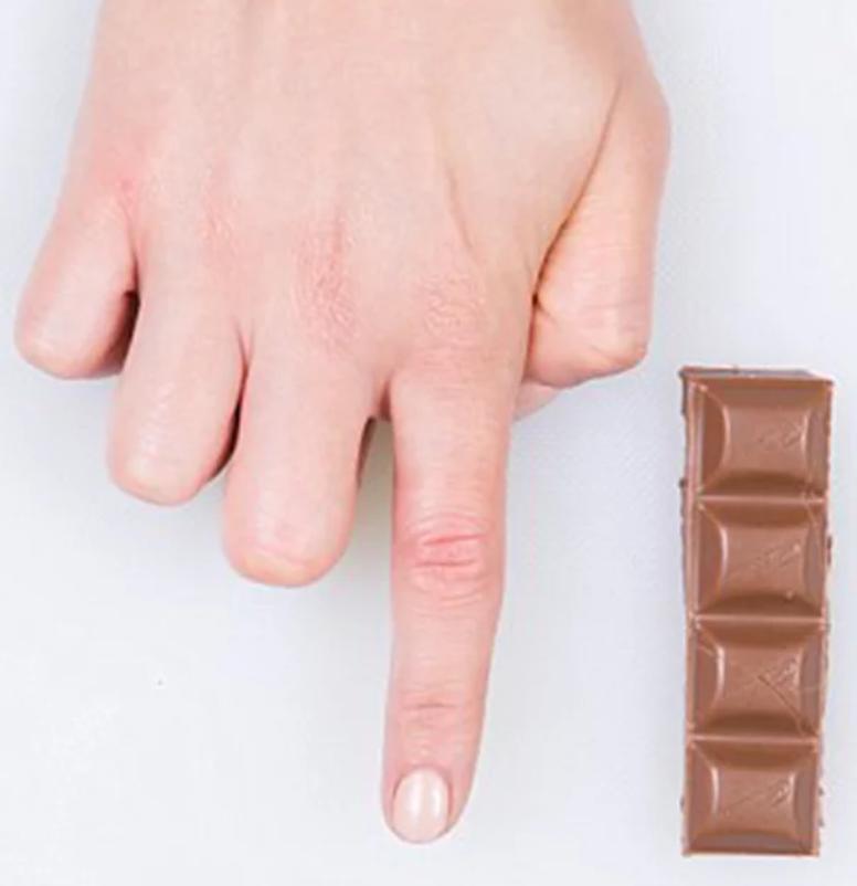 porções de alimentos - chocolate
