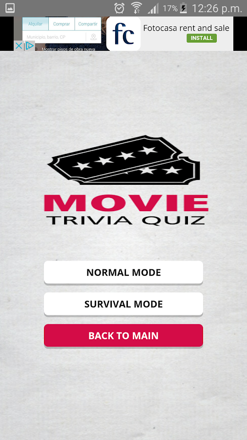 Movie Trivia Quiz- screenshot