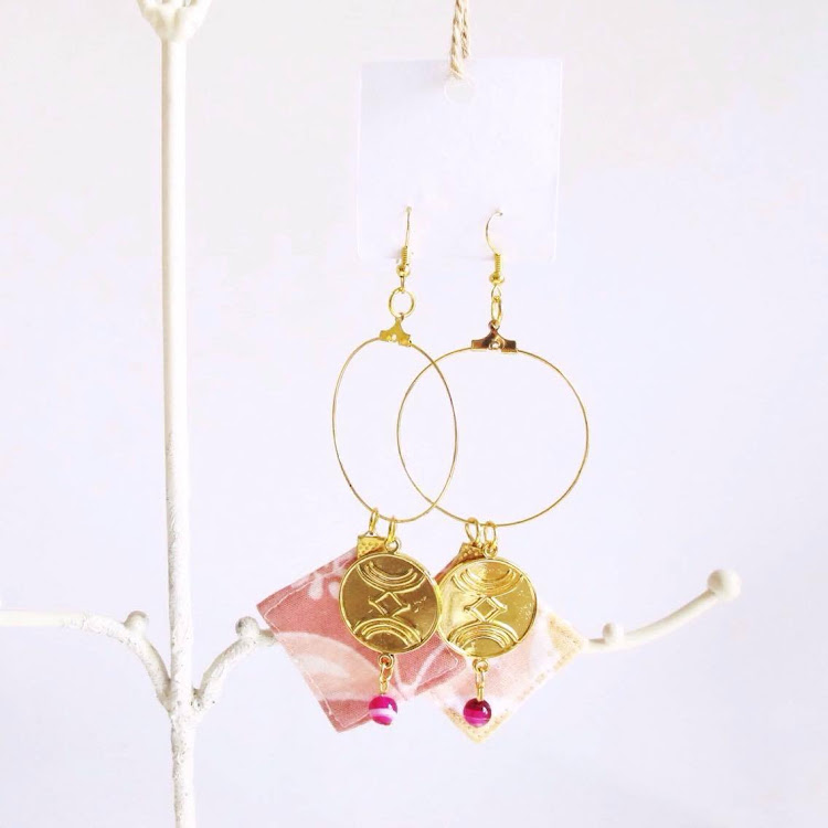 Statement Hoop Earrings (Pink Lemonade) by Wild Whimsies