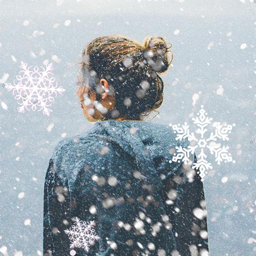 Snowfall Overlay Photo App Icon