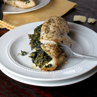 Easy Spinach and Parmesan Stuffed Chicken Breasts.
