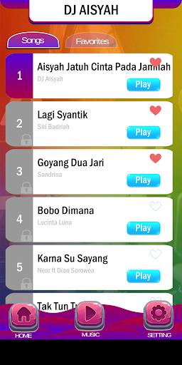 Piano Tiles DJ Aisyah Jamilah 2.3 screenshots 3