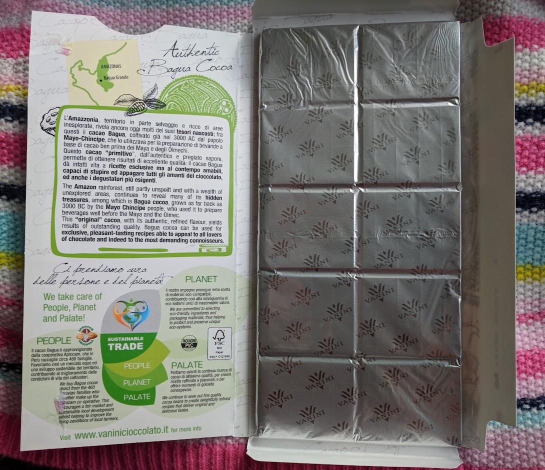 86% vanini bar packaging