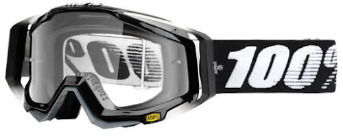 100% RaceCraft Goggle, Abyss Black (Clear Lens)