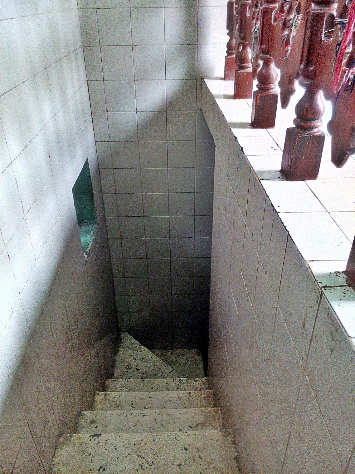Stairs leading to the Hujra that is now a basement