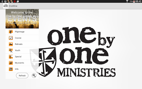 One by One Catholic Events App- screenshot thumbnail
