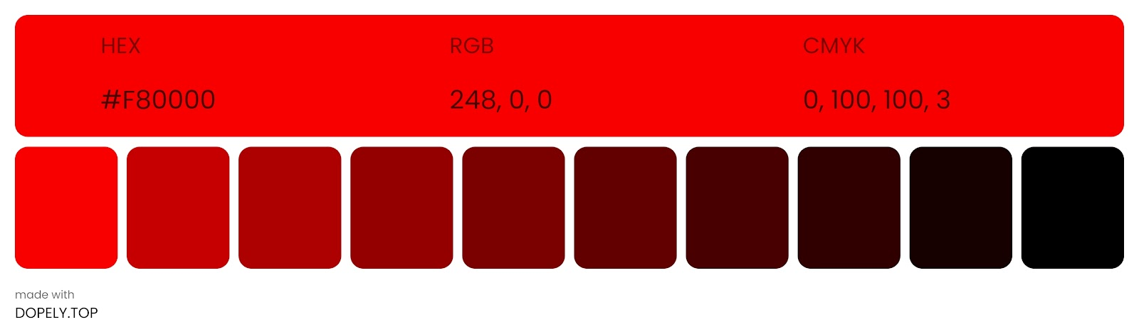 shade of red color