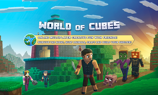 World of Cubes with Skins Export to Minecraft - screenshot