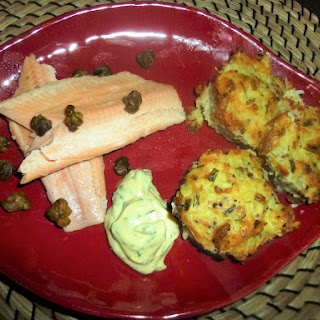 Smoked Trout with Dill and Chive Potato Rosti, Crispy Caper'S and Herb Mustard Mayo Recipe