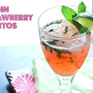 Virgin Strawberry Mojitos.