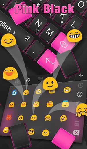 Pink Black Keyboard Theme screenshot 5