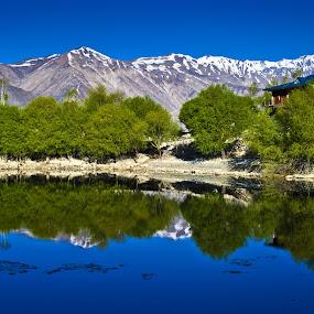 Nako lake magic by Akash Deep - Landscapes Mountains & Hills ( himachal pradesh, lakes in himachal, spiti, nako, kinnaur, nako lake )