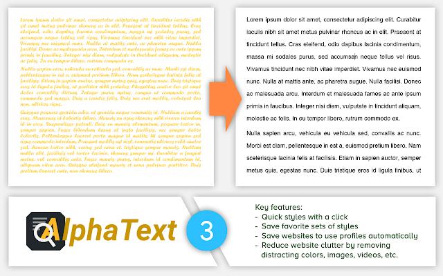 AlphaText - Make text readable! chrome extension