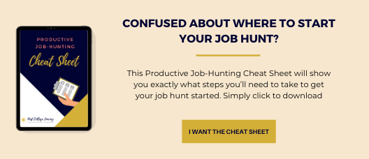 confused about your job hunt? Productive Job-hunting cheat sheet