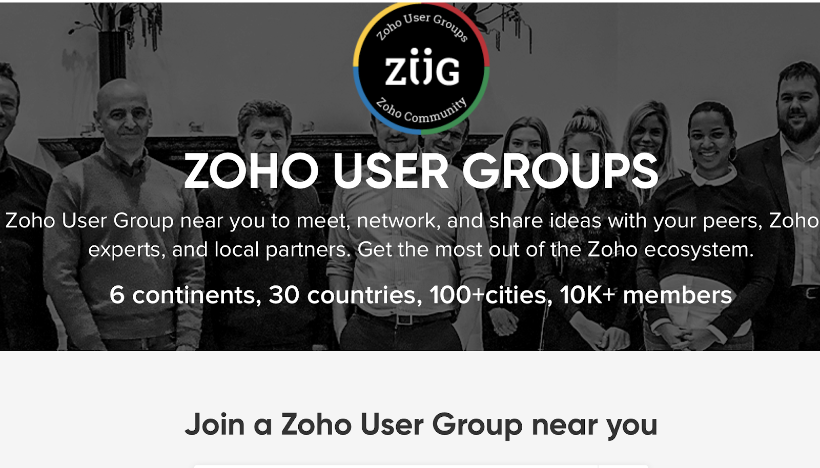 Zoho User Groups (ZUG) - Find one near you