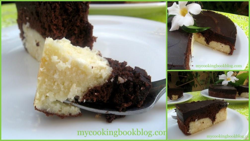 Шоколадов сладкиш с топчета от извара и кокос