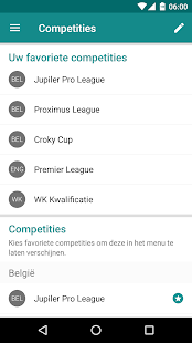 Sporza Voetbal- screenshot thumbnail