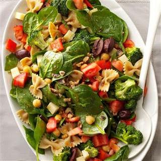Bow Tie & Spinach Salad Recipe