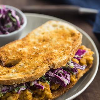 BBQ Chickpea Sandwich with Tahini Slaw