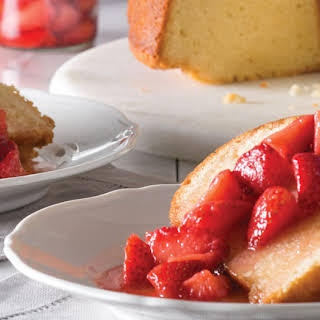 Butter Cake with Browned Butter Strawberry Syrup.