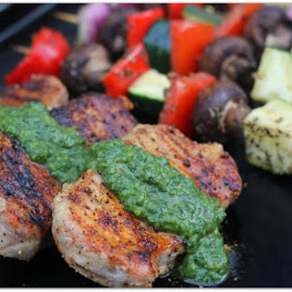 Grilled Boneless Pork Chops with Chimichurri Recipe