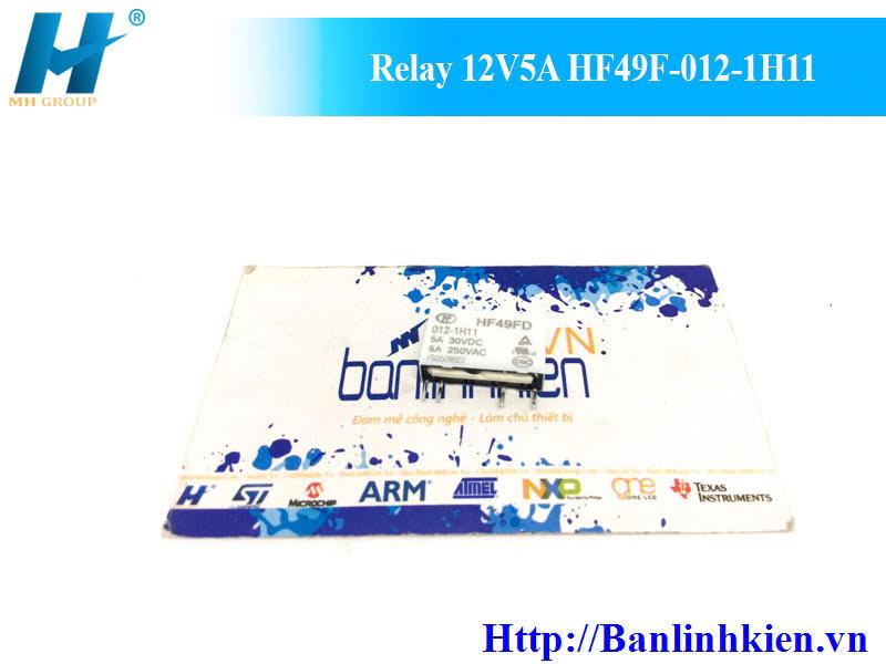 Relay 12V5A HF49F-012-1H11