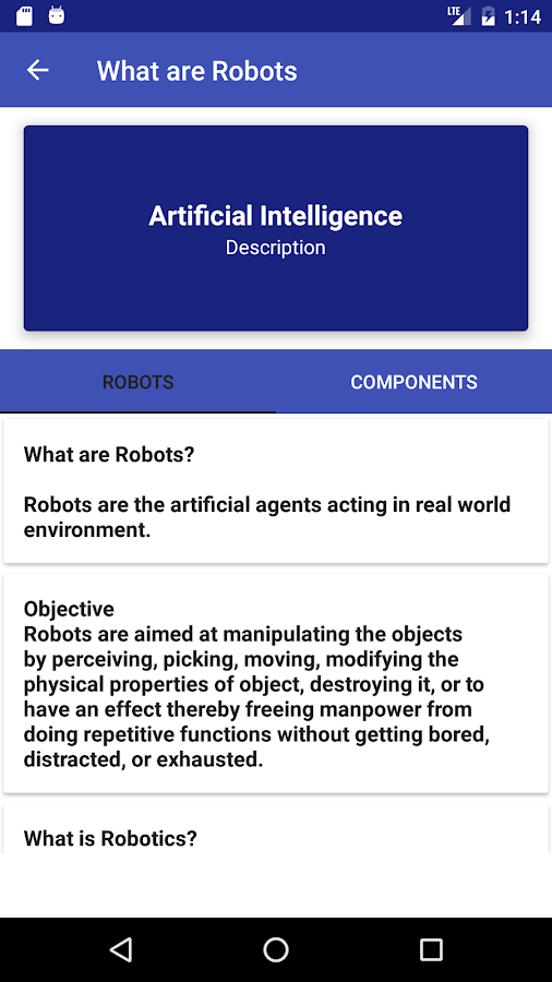 android applications with artificial intelligence in Artificial intelligence: android app (39 ★, 10,000+ downloads) → artificial intelligence (ai) is an area of computer science that emphasizes the creation of.