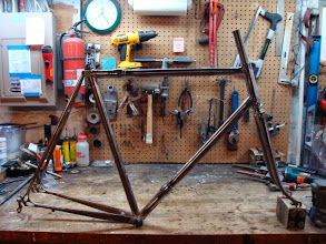 Photo: Finished frame and fork, back from having it's lugs and couplers polished, ready to head to paint.