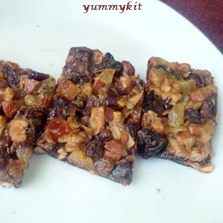 Healthy Snack for Kids -Nuts Dry Fruits Honey Bar Recipe