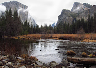 Photo: 'Gates of the Valley' or 'Valley View'  -- El Capitan on left, BridalVeil Fall at right, Day 2