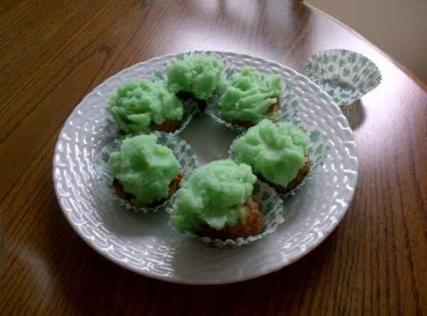 Cupcakes??? Nope! Mini Meatloaves Frosted With Mashed Potatoes With A Little Green Food Coloring.
