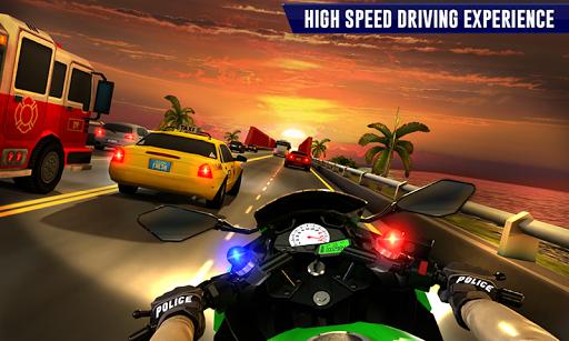 Police Moto Bike Highway Rider Traffic Racing Game modavailable screenshots 5